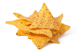 picture of doritos  - Pile of nachos on a white background - JPG