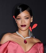 LOS ANGELES - DEC 11:  Rihanna arrives to the The First Annual Diamond Ball on December 11, 2014 in Beverly Hills, CA