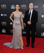 LOS ANGELES - NOV 14:  Robert Duvall & Luciana Pedraza arrives to the The Hollywood Film Awards 2014 on November 14, 2014 in Hollywood, CA