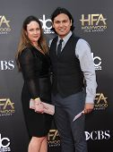 LOS ANGELES - NOV 14:  Adam Beach arrives to the The Hollywood Film Awards 2014 on November 14, 2014 in Hollywood, CA