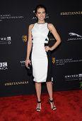 LOS ANGELES - OCT 30:  Lauren Cohan arrives to the BAFTA Jaguar Brittannia Awards 2014 on October 30, 2014 in Beverly Hills, CA