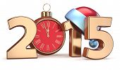 2015 New Years Eve Alarm Clock Christmas Ball Decoration