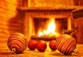 image of chalet interior  - Cozy Christmas eve at home - JPG