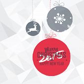 New 2015 Year Card on White