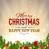 Luxury Christmas Background With Gradient Mesh, Vector Illustration