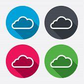 Cloud sign icon. Data storage symbol.