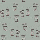 gardening theme, seedlings pattern
