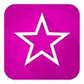 star violet flat icon, christmas button
