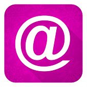 email violet flat icon, christmas button
