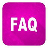 faq violet flat icon, christmas button