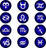 Vector Zodiac Astrology Icon Set