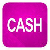 cash violet flat icon, christmas button