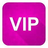 vip violet flat icon, christmas button