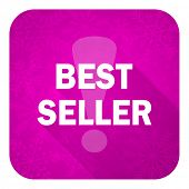 best seller violet flat icon, christmas button