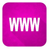 www violet flat icon, christmas button