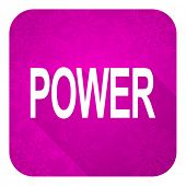 power violet flat icon, christmas button