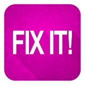fix it violet flat icon, christmas button