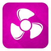 fan violet flat icon, christmas button