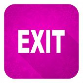 exit violet flat icon, christmas button