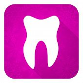 tooth violet flat icon, christmas button