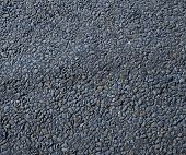 Hot fresh asphalt