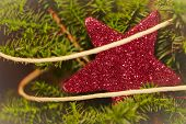 Sparkling Red Christmas Star
