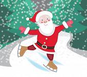 Santa Claus skating