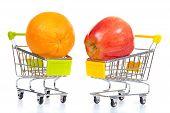 Fruits In Shopping Cart