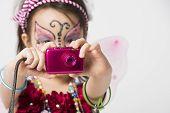 Little Girl Taking Snapshot Picture