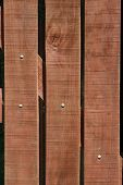 Close-up of a wood gate