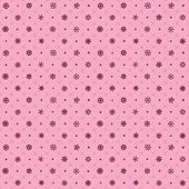 Vector pink Seamless pattern with snowflakes
