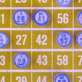 Yellow Bingo Card Isolated