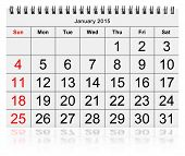 Monthly Calendar - January 2015