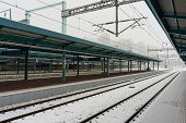Snow over trainstation