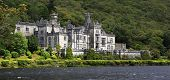 Kylemore Abbey on the lake.