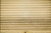 Old And Dirty Corrugated Metal Sheet Slide Door