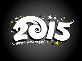 Vector 2015 new year design with goat silhouette.