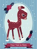 Fawn Illustration for Greeting Cards