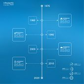 Timeline Infographic with arrows and pointers.