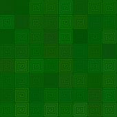 Abstract background Green spiral tile Seamless pattern