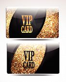 Gold textured VIP cards
