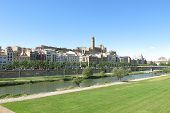 The Segre River As It Passes Through The City Of Lleida