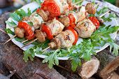 Chicken Kebabs With Vegetables