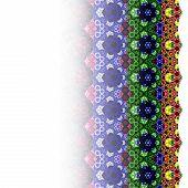 Gradient Colorful Fractal Flower Hexagon Pattern