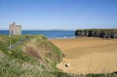 Benches And Path View Of Ballybunion Castle
