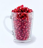 Cup pomegranate seeds