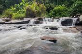Waterfall In Slow Shutter Speed.