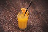 Freshly Squeezed Orange Juice In Glass