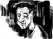 Thinking Man Sketch Drawing Illustration