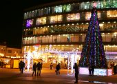 Christmas Fair Near Shopping Center Republic In Nizhny Novgorod Russia
